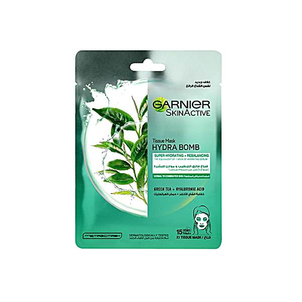 Garnier SkinActive Hydra Bomb Tissue Mask Green Tea 32gms